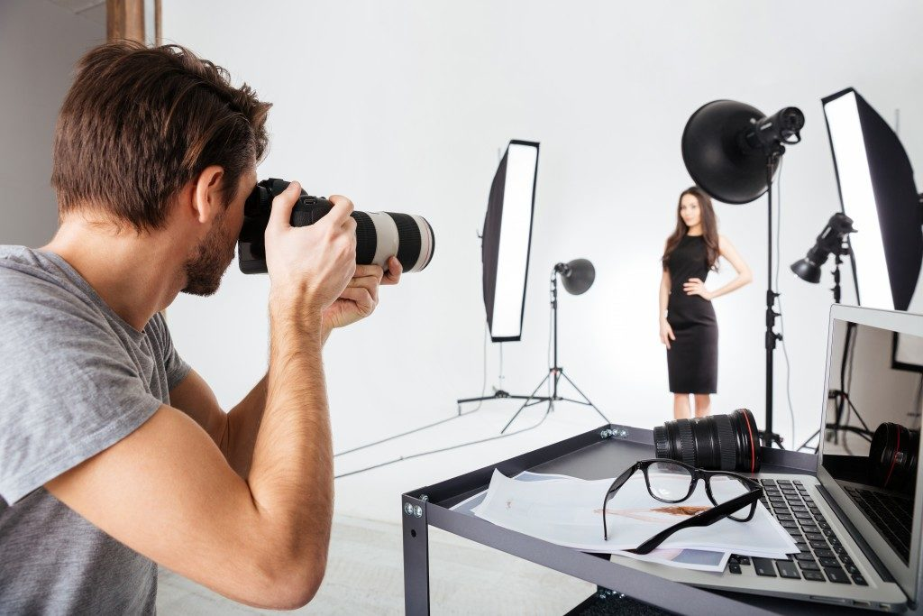 Professional photographer at a studio