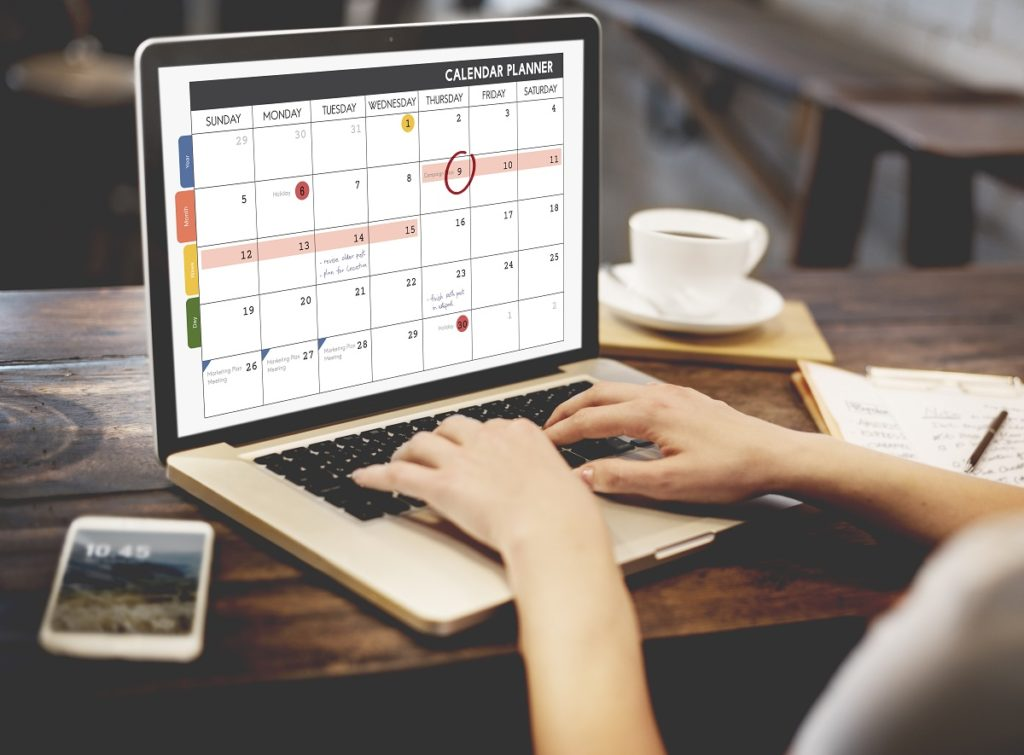 Calendar with reminders