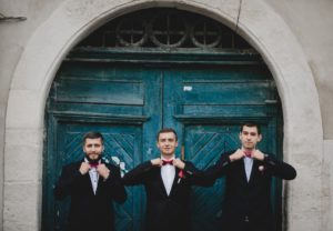 bachelors with red bow tie