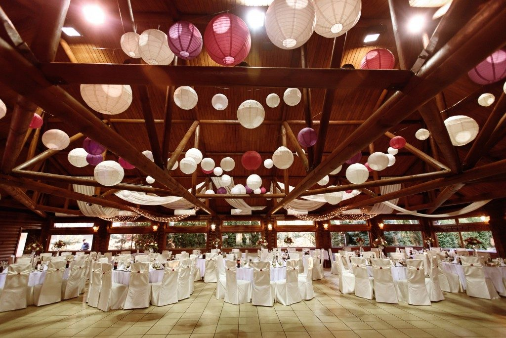 amazing luxury decorated place ceiling for wedding reception
