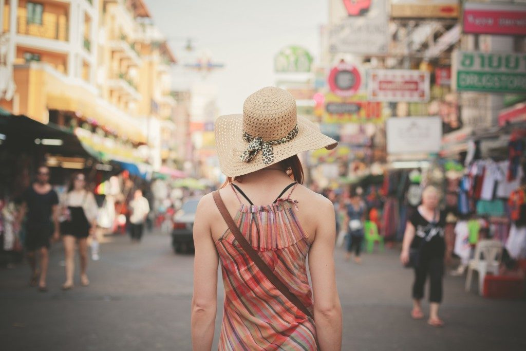 tourist wandering the streets