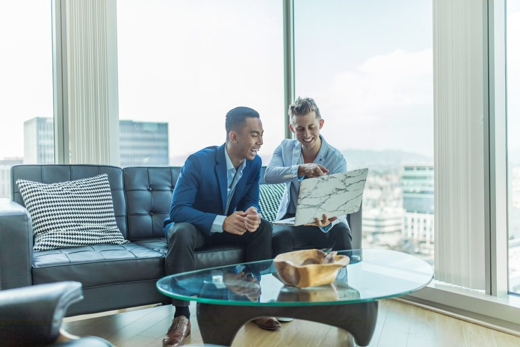 Businessman collaborating