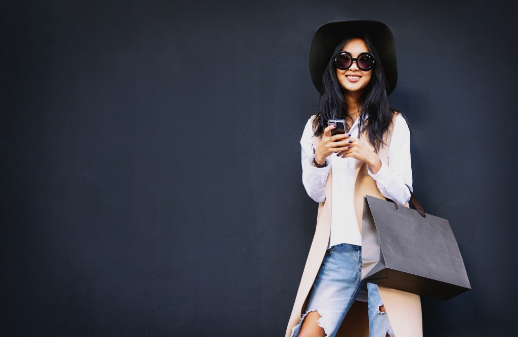 fashionable woman