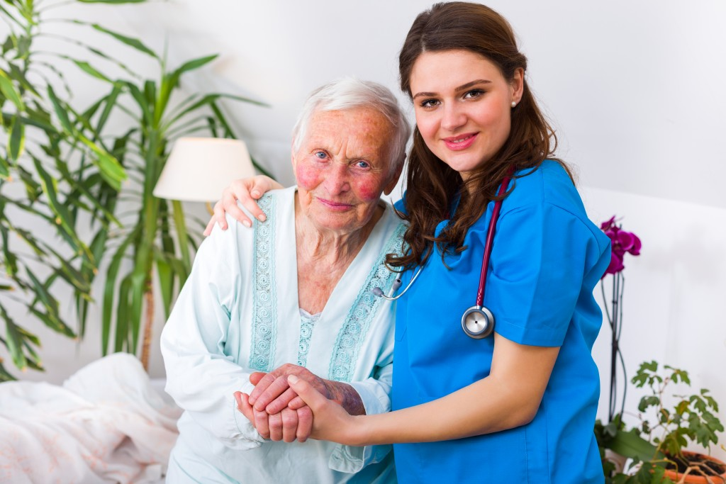 nurse and elderly