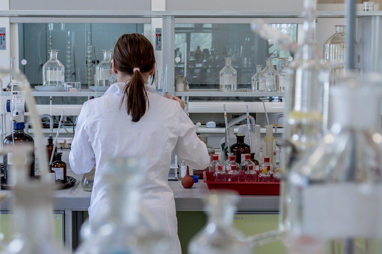 person in laboratory