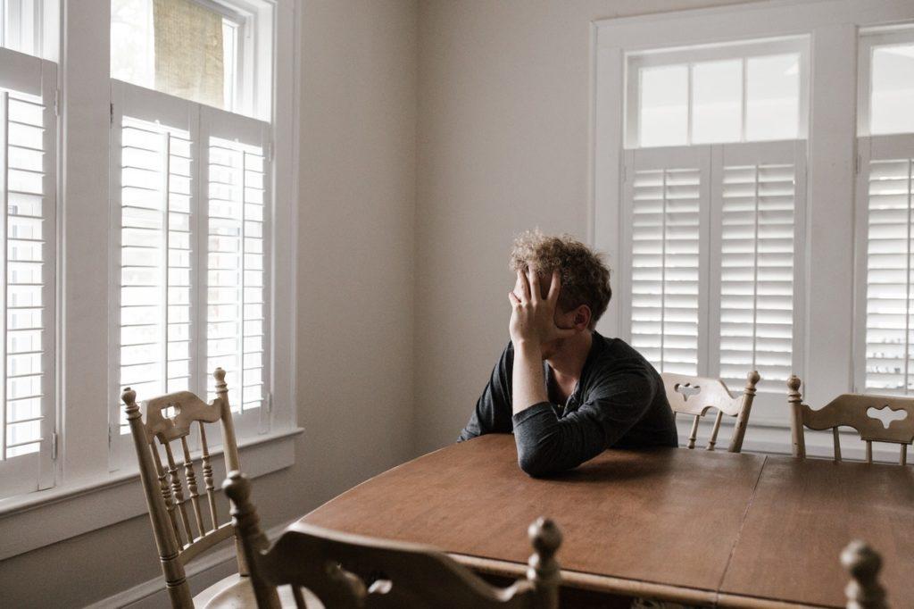 man feeling anxious
