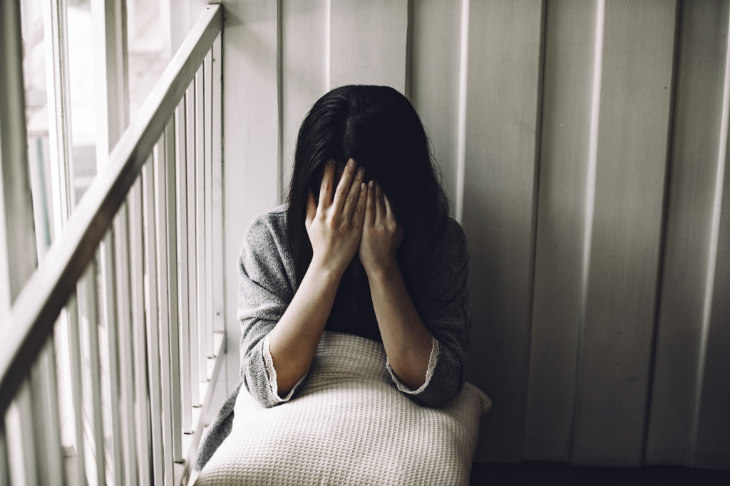 woman with mental health problem