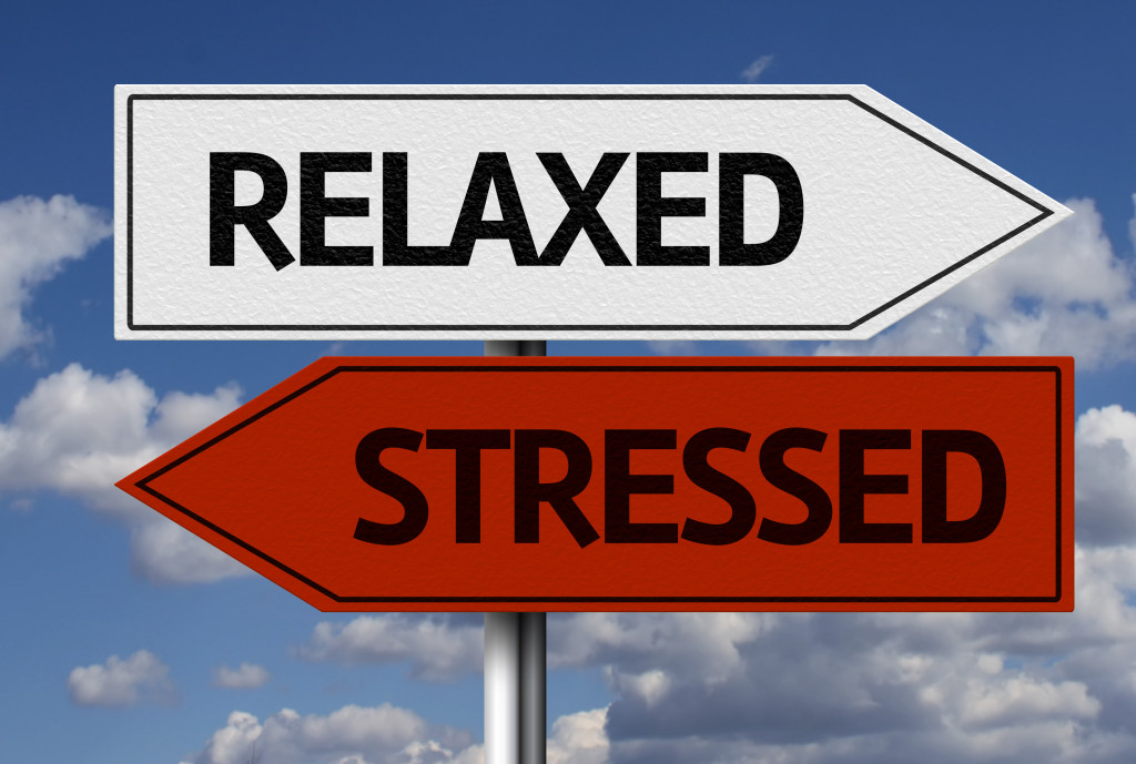 relaxed and stress signs